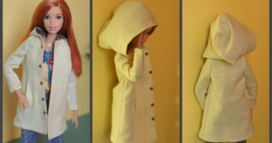 Hooded Trapeze Coat for Made to Move Barbie